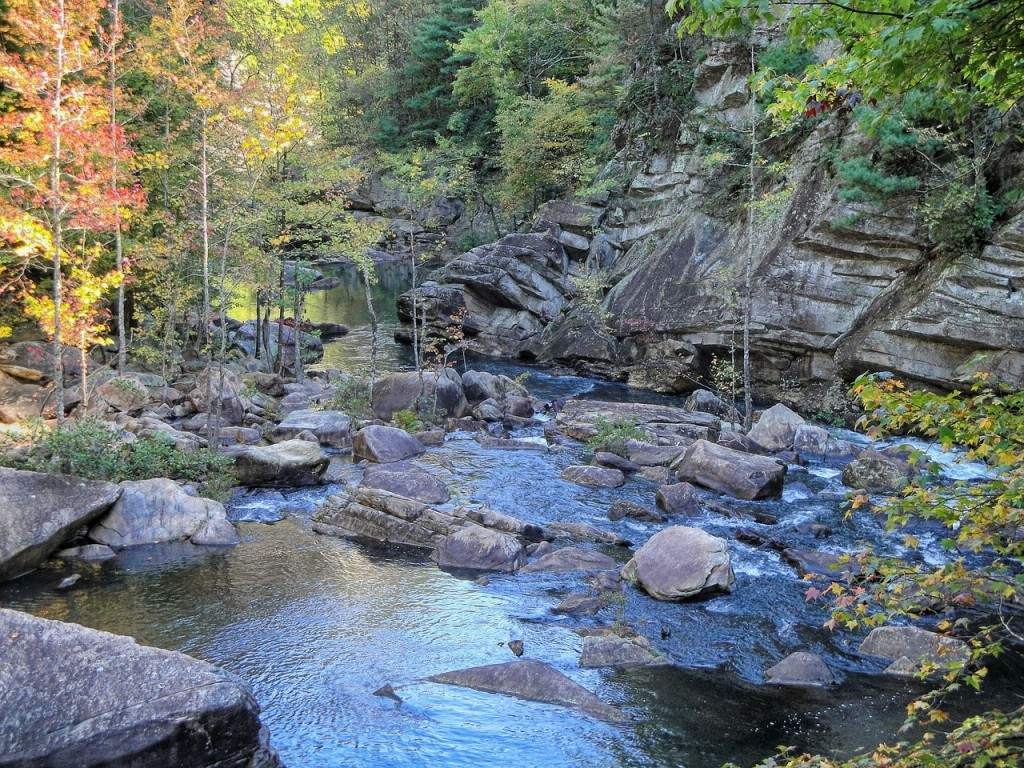 Georgia has several wonderful state parks, like Tallulah Gorge, which sits right next to the border with South Carolina.